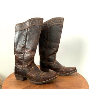 Ariat Sahara Zip Brown leather Boots